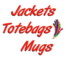Jackets, Totebags, Mugs